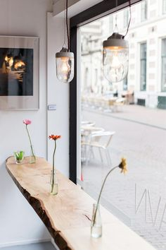 Industrial Lights Add A Rustic Elegance To The Space Coffee ShopCafe Interior DesignIndustrial