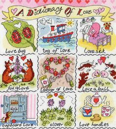 Dictionary of Love cross stitch kit - Bothy Threads