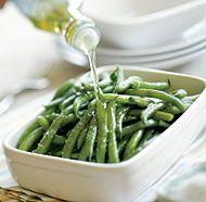 Simply Delicious Green Beans 1 lb. fresh, tender green beans 1-1/2 Tbs ...