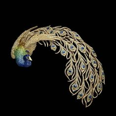Peacok Brooch, Mellerio dits Meller, 1901, gold, diamonds, email. The Al Thani Collection