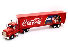 """#PopularKidsToys Just Added In Store! Coca Cola 1:43 Scale Christmas Edition Die-Cast Model Truck - [gallery] Coca Cola 1:43 Scale Holiday Caravan with Lights. Diecast Model: Metal and plastic constructionSuitable for 14 years +Safety Information:Warning. Not suitable for Children under 3 years. Coca-Cola Licensed Product 1:43 Scale die-cast collectors model. Approx 16"""" in length Trailer lights up. Batteries required Full wheel movement Christmas branded Edition [amz_corss_se"""