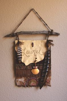 Roots & Feathers // Custom Baby Name Gypsy Flag - rootsandfeathers.com