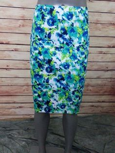 Wendy Williams pencil skirt abstract print womens size 16W career casual work #WendyWilliams #StraightPencil