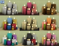 Candles by Andrew & Orangemittens (Sims This is a single mesh that has eight candles. Sims 4 Mm Cc, Sims Four, Sims 4 Mods, Maxis, Sims 4 Studio, Sims 4 Teen, Sims 4 Dresses, Play Sims, Sims 4 Cc Furniture