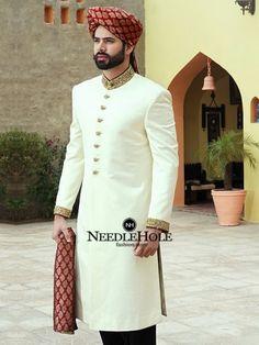 indian muslim wedding dresses for men – Fashion Kid Sherwani For Men Wedding, Sherwani Groom, Wedding Men, Wedding Suits, Blue Sherwani, Summer Wedding, Wedding Ideas, Groom Wedding Dress, Pakistani Wedding Dresses