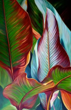 Tree leaves illustration plants Ideas The Effective Pictures We Offer You About Planting Ideas for pots A quality picture can tell you many things. You can find the most beautiful pi Plant Painting, Plant Art, Painting Leaves Acrylic, Tropical Art, Tropical Paintings, Plant Illustration, Leaf Art, Botanical Art, Painting Inspiration