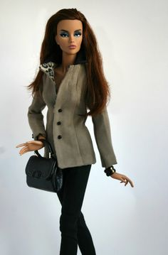Suede Jacket and Black Pants for 16 inch fashion doll by ~Sweet Sixteen~