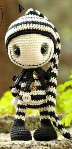 inspiration - so cute, Naďa Kmeťová Crochet Amigurumi, Amigurumi Patterns, Amigurumi Doll, Crochet Dolls, Knitting Patterns, Crochet Patterns, Cute Crochet, Crochet Crafts, Crochet Projects