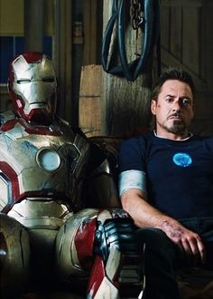 Tony Stark and his suit