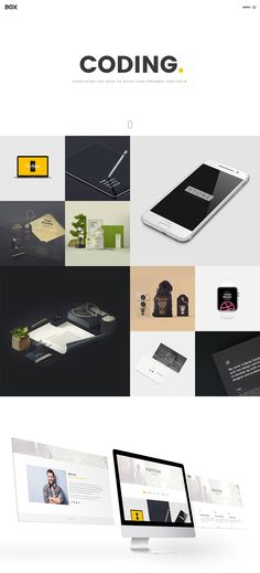 Box Portfolio Free HTML Template. Box is clean and modern template  for your portfolio . everything you need to build your personal portfolio you can get it through Box