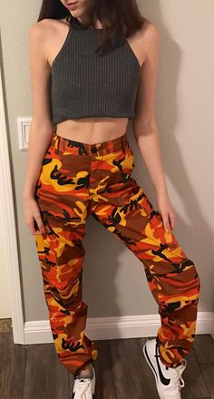 Orange Blue Camo pants Great quality hottest trend of 2017 Look great dressed up or down.