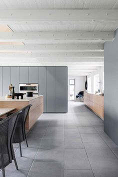 The Farm in Denmark by Anita Barner Ibsen Kitchen Size, Open Plan Kitchen, Kitchen And Bath, Modern Country Style, Country Style Homes, Attic Spaces, Built In Wardrobe, Denmark, Home Remodeling