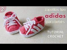 Zapatillas Adidas a crochet para bebé (Parte 2 de 2) - YouTube
