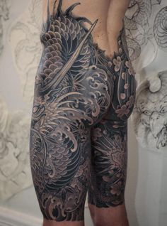 Japanese sleeve tattoos ideas my favorit Japanese Tattoos For Men, Japanese Dragon Tattoos, Japanese Tattoo Designs, Japanese Tattoo Art, Japanese Sleeve Tattoos, Tribal Tattoos, Asian Tattoos, Yakuza Tattoo, Full Body Tattoo