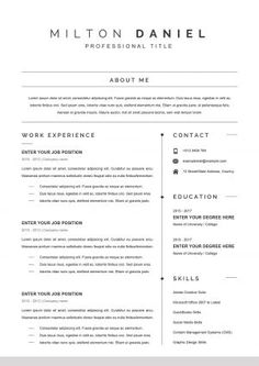 Microsoft Word Resume Template, Executive Resume Template, Resume Template Examples, Best Resume Template, Resume Design Template, Creative Resume Templates, Simple Cv Format, Cv Format For Job, Job Page