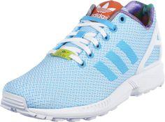 Adidas Women's ZX Flux Weave, Bright Cyan/Running White/Black, 8.5