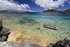 Devil's Beach, Nanuya Levu Island in Fiji