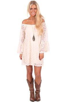 Lime Lush Boutique - Ivory Lace Bell Sleeve Tunic Top, $52.99 (http://www.limelush.com/ivory-lace-bell-sleeve-tunic-top/)