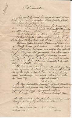 This is the will of Maja Andersdottor, mother of Alexander Elsman Anderson.  It was written in 1889.  She died in 1905.