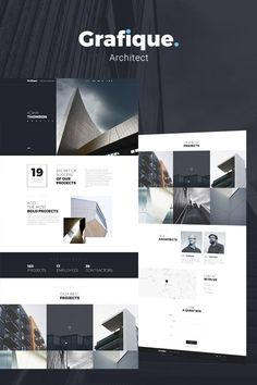 Create your own top-notch architec - Wordpress Ecommerce Theme - Grafique Minimal Architect WordPress Theme. Create your own top-notch architecture website with a modern and responsive theme. Design Websites, Site Web Design, Wordpress Website Design, Blog Design, Website Designs, Website Ideas, Website Design Inspiration, Web Layout, Layout Design