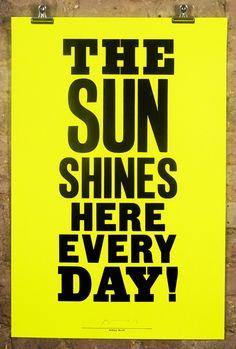 anthony burrill • the sun shines • £40.00