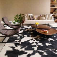 Mod Cow - Black for entries that would benefit from hard to find size-shape rugs