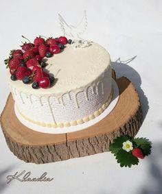 Ovocná torta bez poťahu na birmovku. Krása:) | Autorka: Torty Klaudia