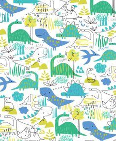 D is for Dinosaur Kids Patterns, Pretty Patterns, Textures Patterns, Fabric Patterns, Apron Patterns, Design Patterns, Dinosaur Pattern, Cute Dinosaur, Dinosaur Design