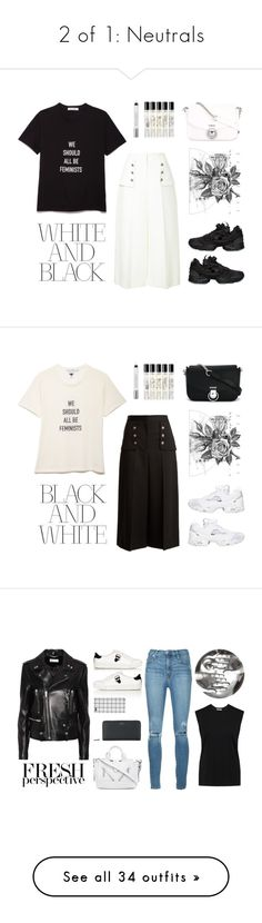 """""""2 of 1: Neutrals"""" by angeli-cn ❤ liked on Polyvore featuring Alexander McQueen, Reebok, Versus, Libertine, Boudicca, Diptyque, Urban Decay, Karl Lagerfeld, Nobody Denim and Yves Saint Laurent"""