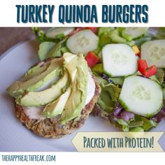 Protein Packed Turkey Quinoa Burgers