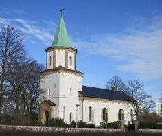 Västra Skrävlinge kyrka Sweden, Times, Mansions, House Styles, Building, Villas, Buildings, Palaces, Construction