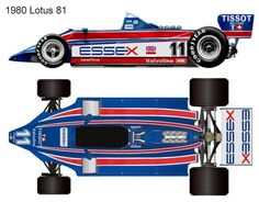 1980 Lotus 81 formula 1 Auto Vintage, Blueprint Drawing, Ground Effects, Lotus F1, Technical Illustration, Mclaren Mp4, Black Beauty, Race Cars, Slot