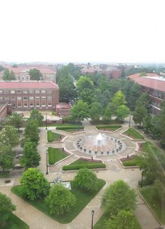 The view of Loeb Fountain and beyond...from BRNG Halls 'Jedi Council Room'