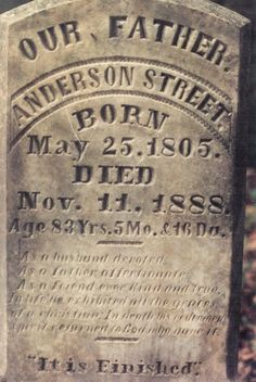 Tombstone Tuesday: Anderson Street #genealogy