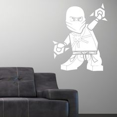 Boys Room? - Ninjago Lego Vinly Wall Decal Sticker Zane