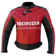 Honda Joe Rocket Red Leather Motorbike Biker Racing Jacket