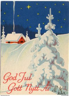1942 Small Cards, Sale On, Sweden, Holiday, Christmas, Miniatures, Artist, Xmas, Vacations