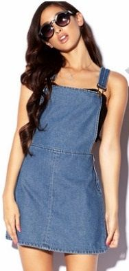 Demin Pinafore Dress