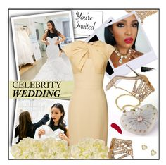 """""""You're Invited: Celebrity Wedding"""" by melindairenes ❤ liked on Polyvore featuring moda, Giuseppe Zanotti, Elie Saab, Jennifer Meyer Jewelry, Urban Decay, Hourglass Cosmetics, Cultural Intrigue, CelebrityWedding, thanksdarling y thanksweetheart"""