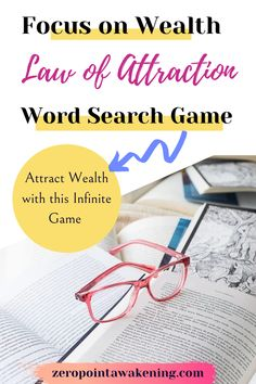 Word Search Games, Law Of Attraction Tips, Awakening, Wealth, Affirmations, Have Fun, Knowledge, Goals