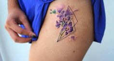 Because this flower comes in many shapes, colors, and sizes, an orchid tattoo is a versatile design and can be inked almost on any part of the body.