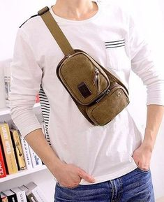 patrones de bolsos bandoleros Canvas Backpack, Laptop Backpack, Sling Backpack, Handbags For Men, Photography Lessons, Crossbody Bag, Backpacks, Mens Fashion, Couture