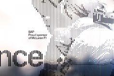 Typographic wall graphics at SAP headquarters, Australia