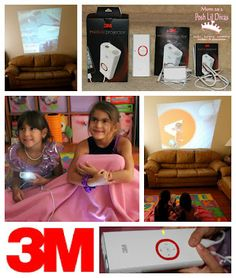 Turn Family Movie Night into a drive-in experience! The 3M Mobile Projector can be used indoors, in your backyard or even on the go (think camping trips, etc!). View movies, photo slideshows, apps/games, you can even stream from netflix! Lots of fun in this little portable gadget.