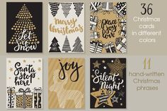 Vector Christmas cards set by Fancy art on @creativemarket