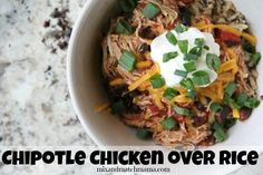 Chipotle Chicken Over Rice | Mix and Match Mama