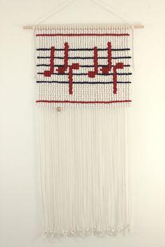 "Macrame wall hanging - ""Music Maestro"" by MarianKorving on Etsy https://www.etsy.com/listing/225435470/macrame-wall-hanging-music-maestro"