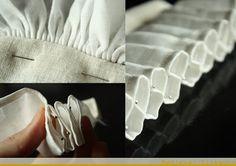 Medieval Silkwork: Frilled veils - Experiment 2