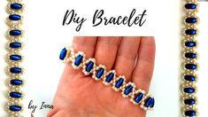 Blue royal princess bracelet. Diy beaded bracelet tutorial