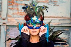 Halloween - peacock - photography - face behind the camera - feathers - Aftyn Marie Photography